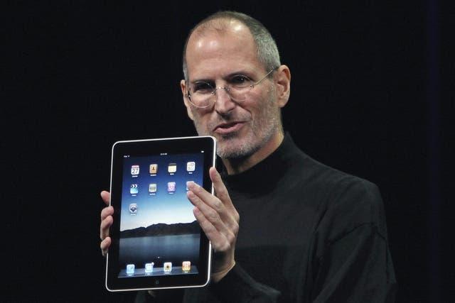 En la presentación de la iPad, en enero de 2010