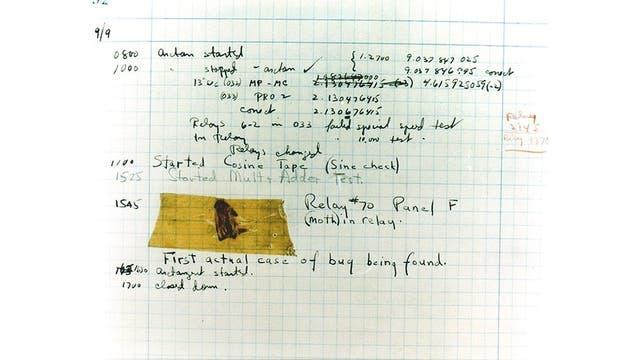 El primer bug (error, pero también insecto) registrado