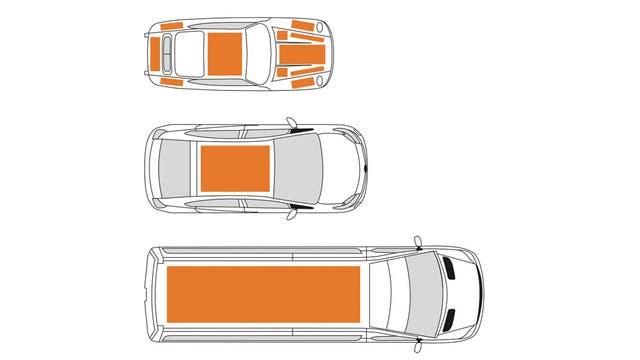 Así se instalarían los paneles solares de AltaDevices en los diferentes modelos de Audi