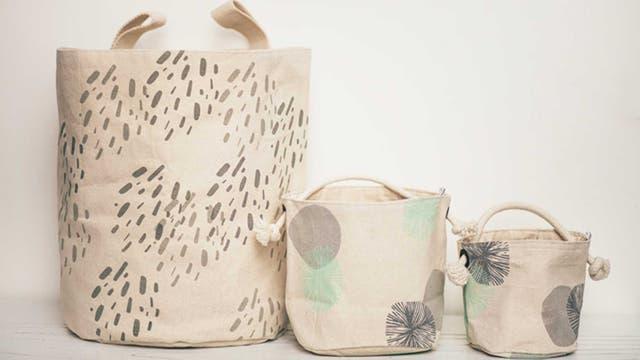 Händer: contenedores textiles estampados a mano (facebook.com/tiendahander).Nro. de exhibidor: 4 Deco
