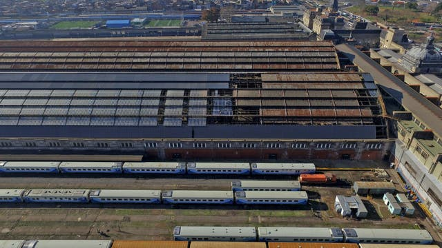 Refacción en la estación Retiro del ferrocarril Mitre. Foto: LA NACION / Emiliano Lasalvia
