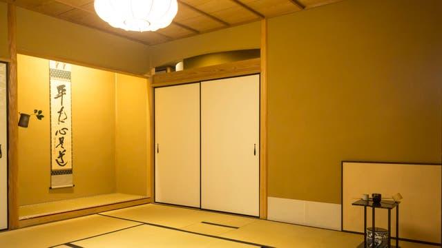 El salón de la ceremonia del té. Gentileza Airbnb