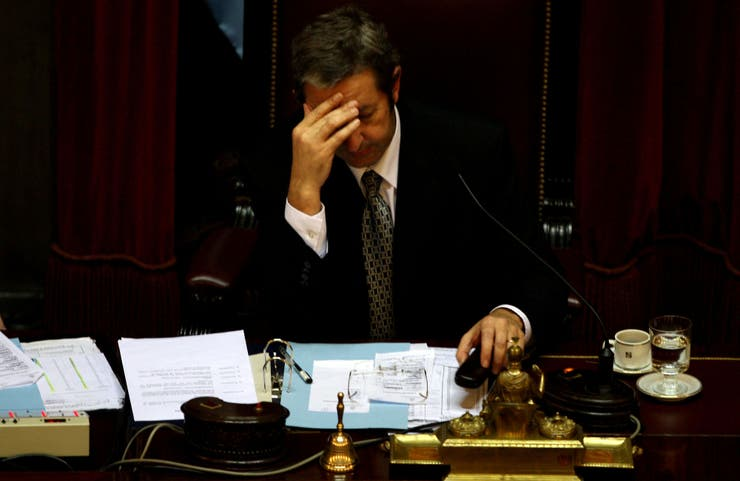 """Julio Cobos y un momento de tensión el 17 de julio de 2008, el día del voto """"no positivo"""""""