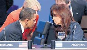 Cara a cara: Obama y Cristina Kirchner estuvieron sentados uno al lado del otro durante la cumbre de energía atómica