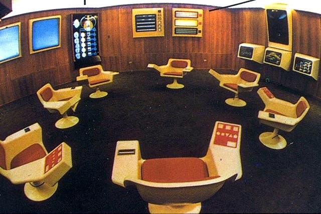Prototipo del Ops Room que Allende pretendía instalar en el Palacio de la Moneda