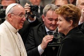 Dilma se reunirá mañana con el Papa