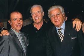 Rousselot con Carlos Menem y Antonio Cafiero
