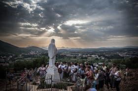 Virgen Reina de la Paz, en Medjugorje, un pueblo de Bosnia-Herzegovina, uno de los santuarios más buscados por los peregrinos