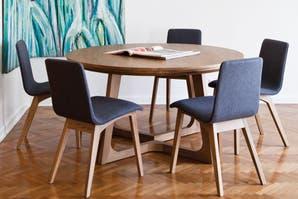 Mesas redondas y ovaladas, dos alternativas para el comedor