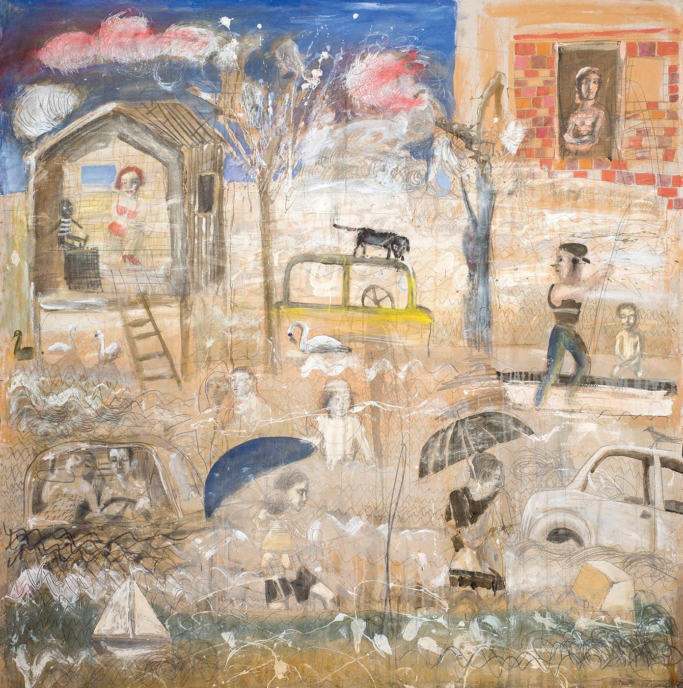 Inundados, una obra que da cuenta de la mirada cercana del artista a su entorno