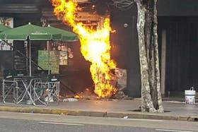 Explosión en Plaza Italia