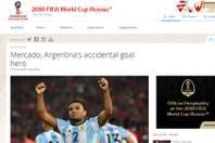 "Otro hito para Gabriel Mercado, el ""héroe accidental"" que llegó a la portada de FIFA.com"