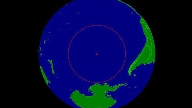 Aquí queda el polo de inaccesibilidad oceánica, conocido como Punto Nemo