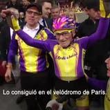 El ciclista francés Robert Marchant, de 105 años, logró el miércoles el récord mundial
