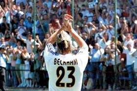 Flamante incorporación del Real Madrid, David Beckham lo eligió para su camiseta