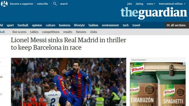 El diario The Guardian, de Inglaterra. Foto: Archivo