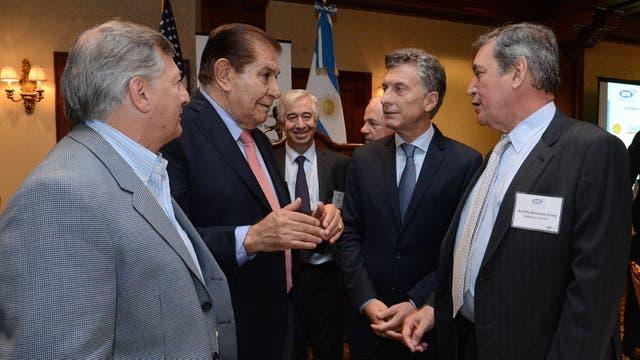 Mauricio Macri compartió un almuerzo con empresarios petroleros en la ciudad de Houston. Foto: DyN / Presidencia