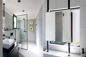Dos baños en tono moderno
