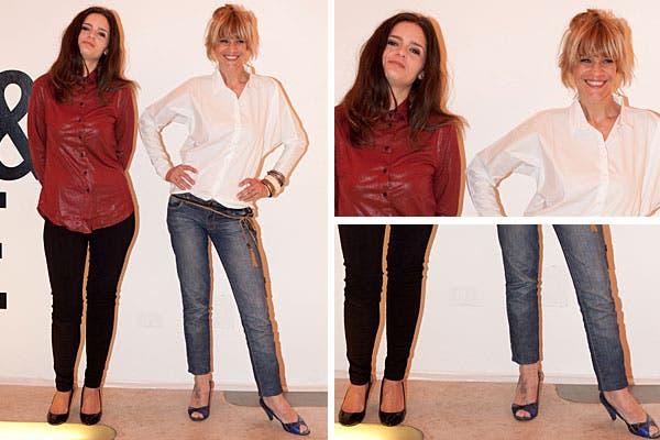 Romina Ricci y Leticia Brédice estuvieron en el lanzamiento de Mes & Sage, tienda de moda online. Ambas eligieron pantalón, camisa y tacos. ¿Qué estilo te gusta más?. Foto: Mass Grupo PR
