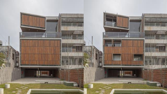 Dos vistas del edificio Mosconi, participante del Open House 2017