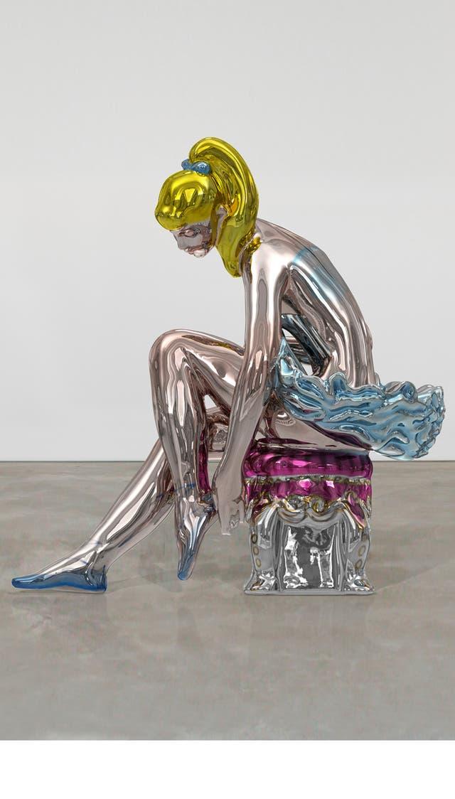 Bailarina es la primera escultura de Koons que se exhibe en un espacio público en la Argentina. Fue adquirida por Eduardo Costantini para el complejo residencial Oceana Bal Harbour, en Miami