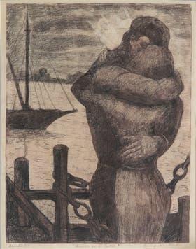 Una obra que es parte de la muestra El arte que trajo el río. Gentileza: Museo Benito Quinquela Martín