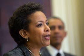 Loretta Lynch, al ser presentada por el presidente Obama en la Casa Blanca