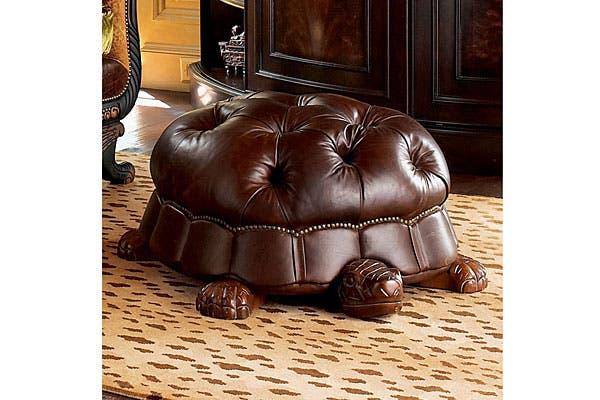 ¿Qué tal este sillón estilo Chesterfield en forma de tortuga?. Foto: Bemlegaus.com