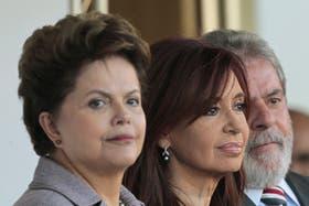 Encuentro en Dilma Roussef, Cristina Fernández y Lula, en Brasilia