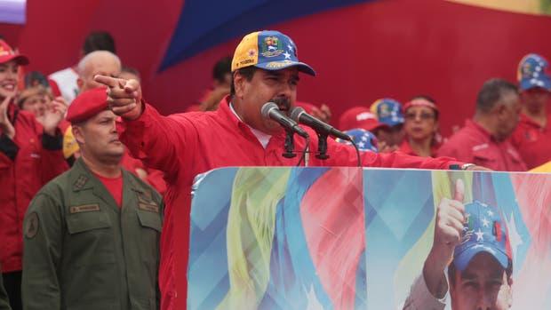 El presidente venezolano, Nicolás Maduro, pronuncia un discurso durante una manifestación de apoyo el miércoles pasado.
