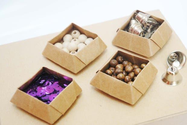 Contenedores para elementos pequeños, de Origami Fest.