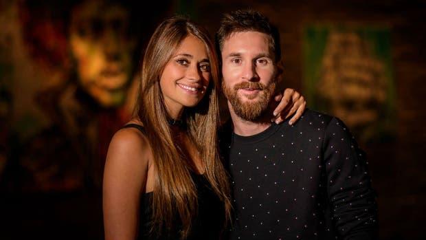 Antonela y Lionel, en su última foto de solteros