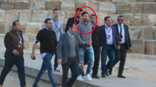 Leo Messi, en su última visita a Egipto