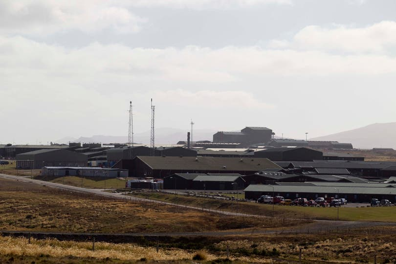 Base Militar Inglesa en Malvinas, Mount Pleasant. Foto: LA NACION / Rodrigo Néspolo