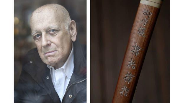 """""""Este es un cuchillo ritual para el seppuku (vulgarmente llamado harakiri), la ceremonia en que el soldado se abre el vientre para salvar su honor. Lo trajo mi padre de Japón en 1940."""" Fotos: Alejandro Guyot"""