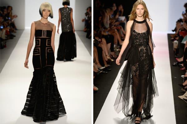 Carmen Mac Valvo y BCBG Max Azria, con vestidos negros con transparencias. Foto: image.net