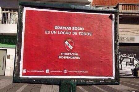 Lo hizo agrupación Independiente
