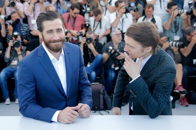 Jake Gyllenhaal y Paul Dano, en el photocall de la película en Cannes