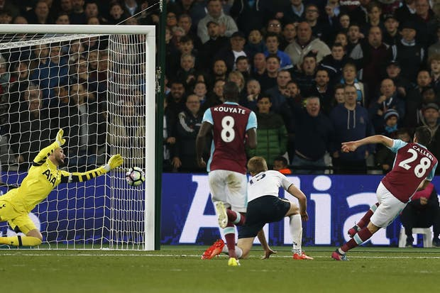 Manu anotó el único gol del partido