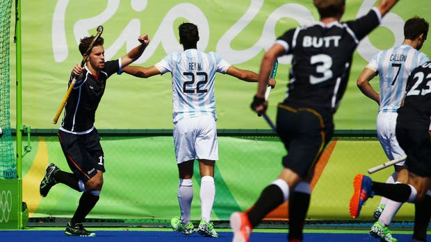 Los Leones igualaron 4-4 contra Alemania