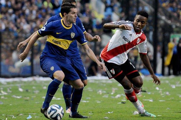 River le ganó a Boca 2 a 1 y es escolta en el torneo Final.Volvió a ganar en la Bombonera después de 10 años.  Foto:DyN
