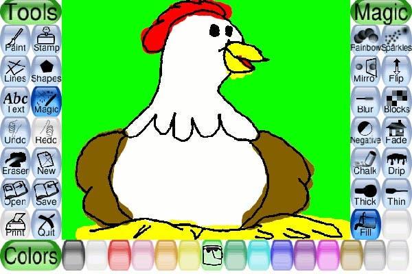 Tux Paint es un software libre para que los chicos puedan dibujar sin problemas