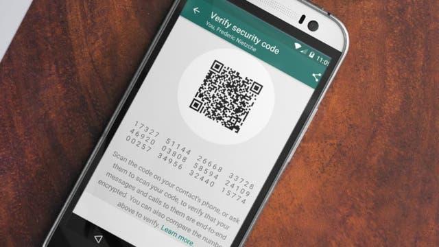 El código que permite verificar la seguridad de una conversación de chat
