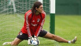Germán Lux, con la camiseta de River; se fue del club en 2006
