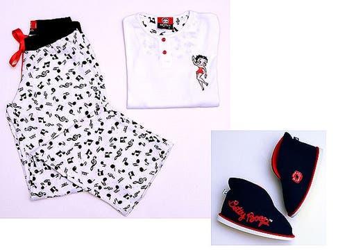 Estampas de Betty Boop en los pijamas de Innocenza ($122, hasta el talle 14) que combinan con botitas negras ($50) www.innocenza.com.ar. Foto: lanacion.com