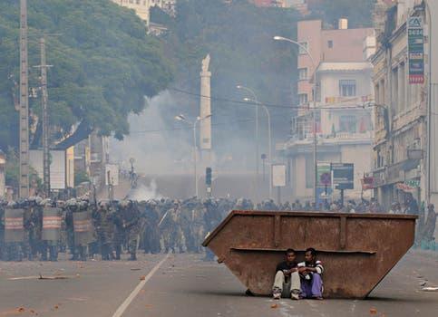 Violencia en Madagascar: el fotógrafo argentino Walter Astrada obtuvo el primer premio en la categoría Spots de actualidad. Foto: AFP