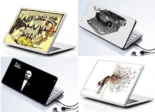 Vinilos para personalizar las notebooks y netbooks; $ 75 y $ 55. www.pasteonline.com.ar. Foto: lanacion.com