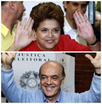 Fotografias comparaticvsa ade los dos candidatos que irán al ballottage, los resultados se sabrán recien a fin de mes. Foto: Reuters