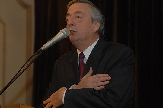 El ex presidente y titular de la Unasur, Néstor Kirchner, en un encuentro de militancia durante  las deliberaciones del Foro de San Pablo en Buenos Aires, 20 de agosto de 2010. Foto: LA NACION