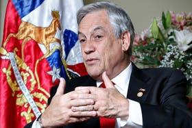 Sebastián Piñera, ayer, durante la entrevista con LA NACION, en la embajada chilena